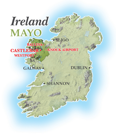 Map Of Ireland Mayo.Mayo Guide Mayo International Choral Festival West Of Ireland